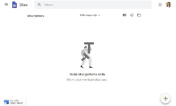 cara membuat google site