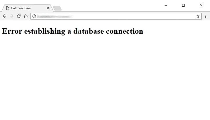Gambaran Error establishing a database connection