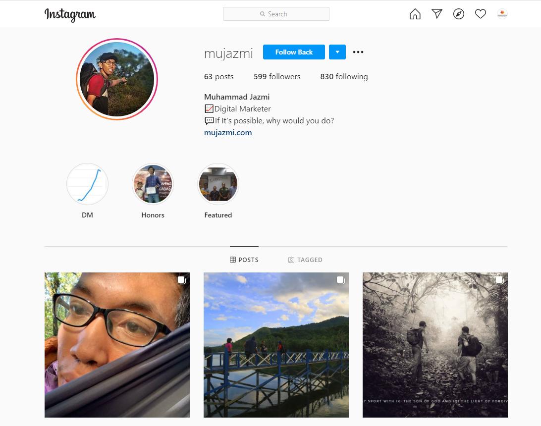 personal branding lewat instagram